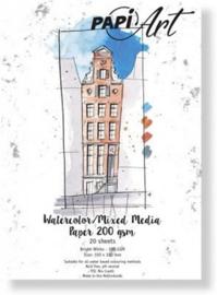 Papier Wit Brush lettering / Handlettering - 100x150 mm - 200 grs - 20 vel