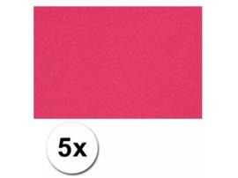 Karton A4 Roze 160 grams - 5 Vellen
