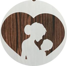 Sjabloon Moeder Baby Hart Geboorte  - Handlettering / Bullet Journaling