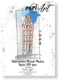 Papier Wit Brush lettering / Handlettering - 210x300 mm - 200 grs - 20 vel