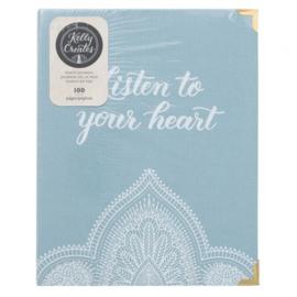 Art Journal / Bullet Journal boekje - Art Journal Bullet Journal - Kelly Creates peace journal x100