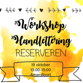 Workshop Handlettering Amersfoort 19 oktober 2019