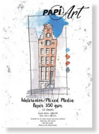 Papier Wit Brush lettering / Handlettering - 100x150 mm - 350 grs - 12 vel