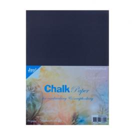 Krijtpapier chalkpaper zwart  250 grams A4 Joy!Crafts - 25 stuks