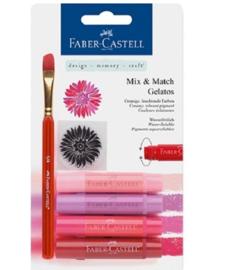 Faber Castell Gelatos - Pigment Sticks - Rood 4 st.