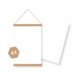 Poster DIY blank canvas A4 - 6 stuks