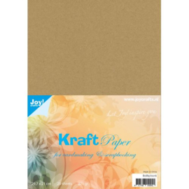 Karton bruin kraft 220 gram A4 formaat Joy!Crafts - 25 Vellen