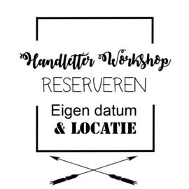 Workshop Handlettering - Eigen tijd & locatie