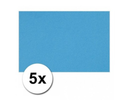 Karton A4 Turquoise 160 grams - 5 Vellen