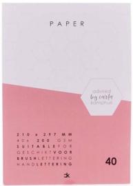 A4 karton wit - 200 grs - 40 vel - Carla Kamphuis