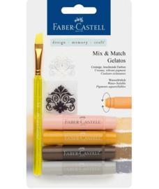 Faber Castell Gelatos - Pigment Sticks - Neutraal 4 st.