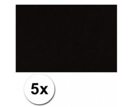 Karton A4 Zwart 160 grams - 5 Vellen
