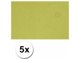 Karton A4 Groen 160 grams - 5 Vellen