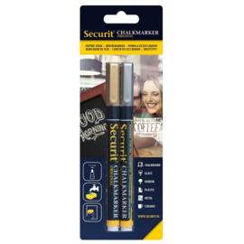 Krijtstift goud & zilver set 2 stuks (2xSmall 1-2mm) - Securit liquid chalkmarker silver & gold