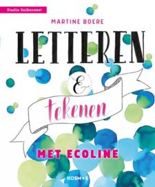 Letteren en tekenen met ecoline - Martine Boere