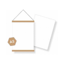 Poster DIY blank canvas A5 - 6 stuks