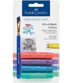 Faber Castell Gelatos - Pigment Sticks - Pastel 4 st.