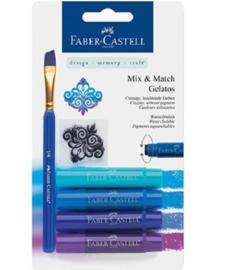 Faber Castell Gelatos - Pigment Sticks - Blauw 4 st.