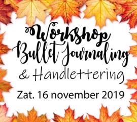 Workshop Bullet Journaling & Handlettering - Zaterdag 16 november 2019