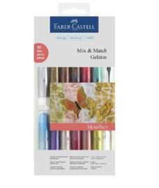 Faber Castell Gelatos - Pigment Sticks - Metallic Kit 15 st.