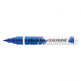 Brush pen Ecoline Blauw Ultramarijn donker (506) - 1 stuk