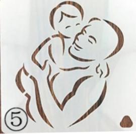 Sjabloon Vader en Baby Geboorte - Handlettering / Bullet Journaling