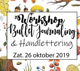 Workshop Bullet Journaling & Handlettering - Zaterdag 26 oktober 2019