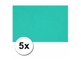 Karton A4 Blauw Oceaan 160 grams - 5 Vellen