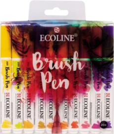 Brush pen Ecoline set - 20 stuks