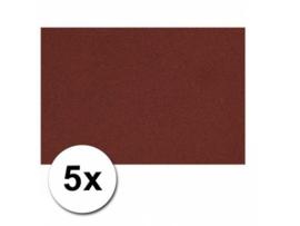 Karton A4 Bordeaux Rood 160 grams - 5 Vellen