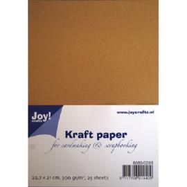 Karton bruin kraft 300 gram A4 formaat Joy!Crafts - 25 Vellen