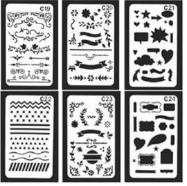 Bullet Journaling / Handlettering Sjabloon - 6 verschillende sjablonen (C19-C24)