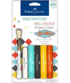 Faber Castell Gelatos - Pigment Sticks - 50' Diner 4 st.