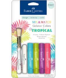 Faber Castell Gelatos - Pigment Sticks - Tropical 4 st.