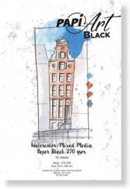 Papier Zwart Brush lettering / Handlettering - 210x300 mm - 270 grs - 15 vel