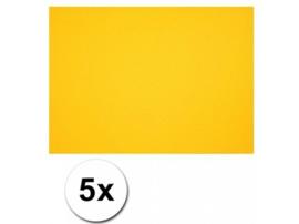 Karton A4 Geel 160 grams - 5 Vellen