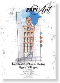 Papier Wit Brush lettering / Handlettering - 150x210 mm - 350 grs - 12 vel