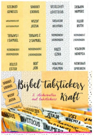 Bible Journaling Bijbel Tab stickers kraft ByKris