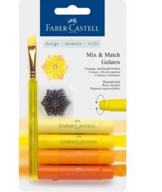 Faber Castell Gelatos - Pigment Sticks - Geel 4 st.