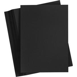 Karton zwart 200 grams A5 formaat - 100 vellen