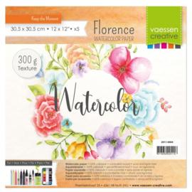 Watercolor Aquarelpapier 300g 30,5x30,5cm wit Florence - 5 stuks