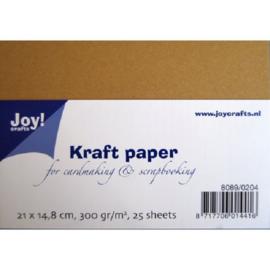 Karton bruin kraft 300 gram A5 formaat Joy!Crafts - 25 Vellen