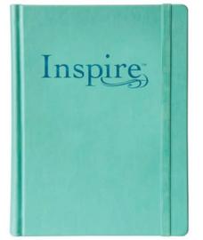 NLT inspire bible hardcover aqua - Schrijfbijbel