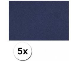 Karton A4 Donkerblauw 160 grams - 5 Vellen