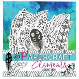 Papercraft elements voor journaling veertjes ByKris