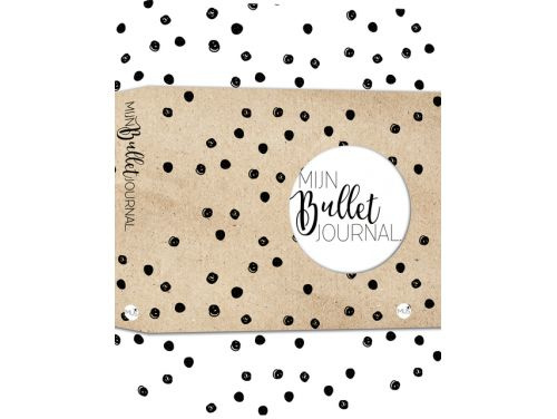 Bullet Journal / Art Journal boekje -Mijn Bullet Journal Black dotted