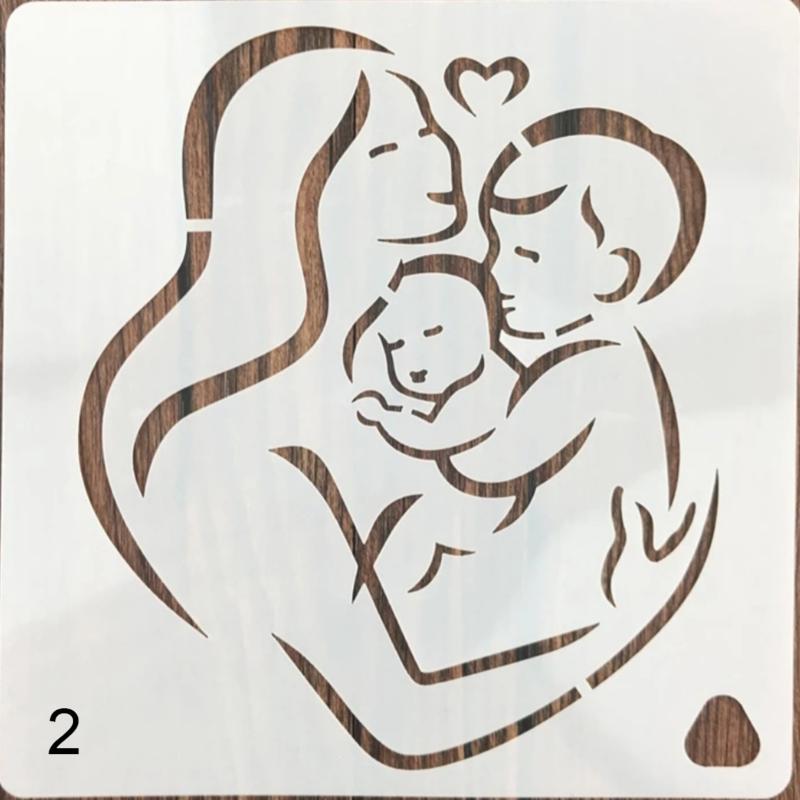 Sjabloon Moeder en Baby en Kind Geboorte - Handlettering / Bullet Journaling