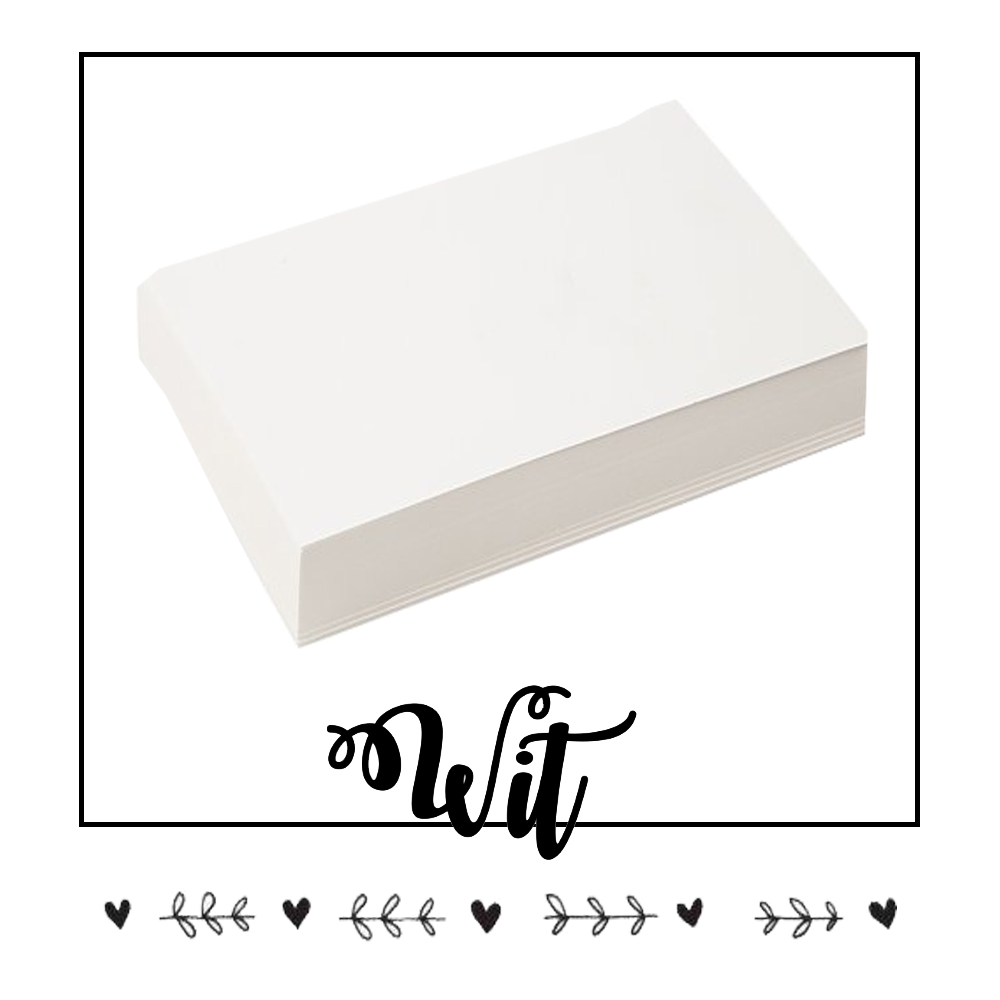 Wit handlettering karton of papier kopen? Klik hier!