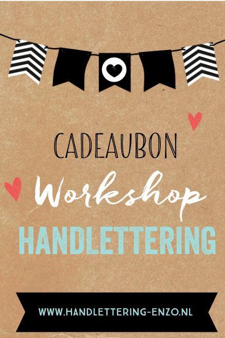 Cadeaubon Workshop Handlettering