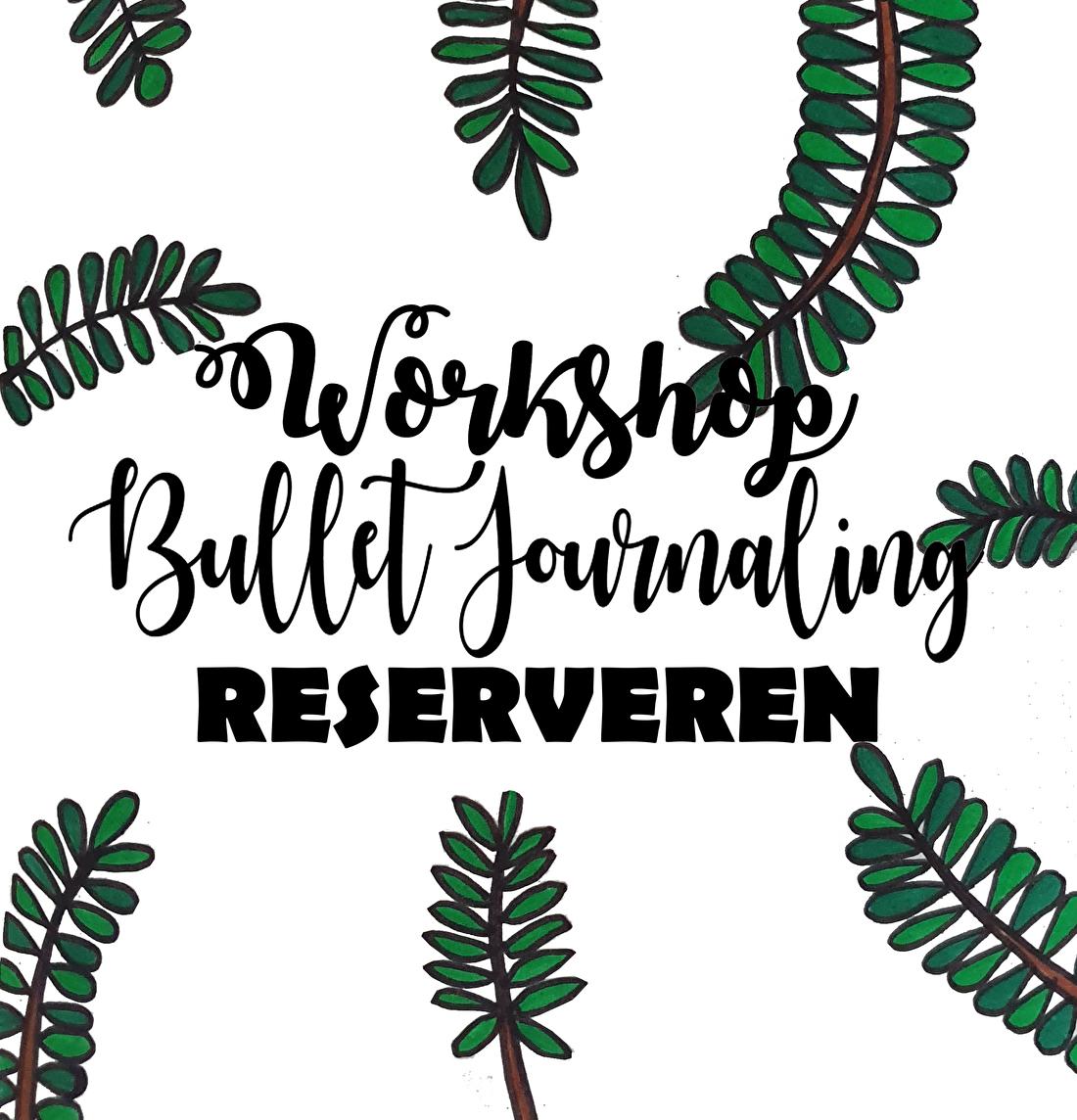 Workshop Bullet Journaling Reserveren? Klik hier!